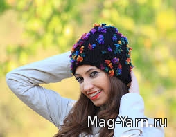 Вязание осеней шапки шляпки